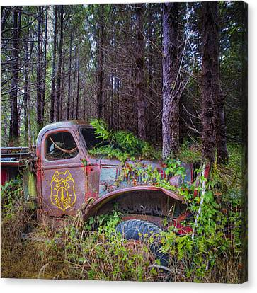 Tri City Fire Department Canvas Print by Debra and Dave Vanderlaan
