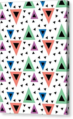 Triangular Dance Repeat Print Canvas Print by Susan Claire