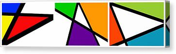 Triangularism Triptych  I Canvas Print by Richard Reeve