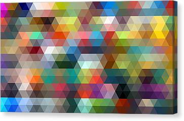 Triangulation 2 Canvas Print by Taylan Apukovska