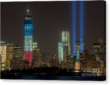 Tribute In Light Xiii Canvas Print by Clarence Holmes