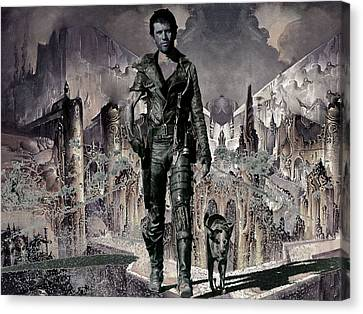 Tribute To Mad Max Canvas Print by Francis Erevan