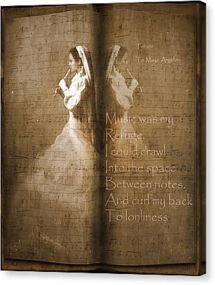 Tribute To Maya Angelou And Authors Canvas Print by Georgiana Romanovna