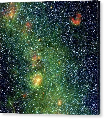 Trifid Nebula Canvas Print by Nasa/jpl-caltech/ucla