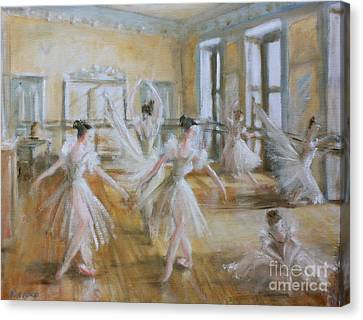 Tring Park The Ballet Room Canvas Print by Yvonne Ayoub