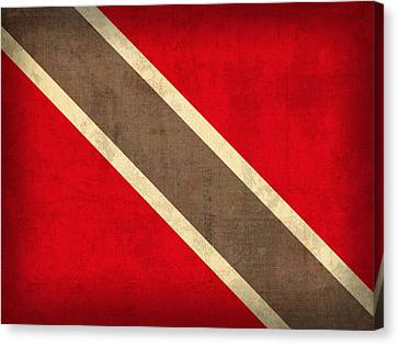 Trinidad And Tobago Flag Vintage Distressed Finish Canvas Print by Design Turnpike