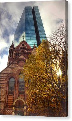 Trinity And The Hancock Canvas Print by Joann Vitali