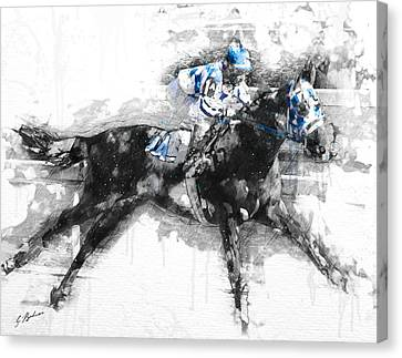Secretariat Triple Crown 73 Canvas Print by Gary Bodnar