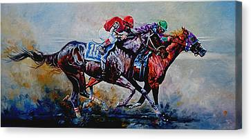 The Preakness Stakes Canvas Print by Hanne Lore Koehler