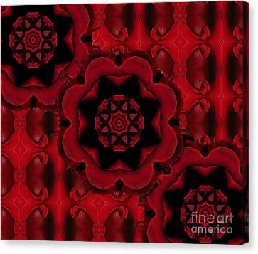Triple Red Rose - #2 Canvas Print by Renata Ratajczyk