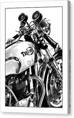 Triton Motorcycle Canvas Print by Tim Gainey