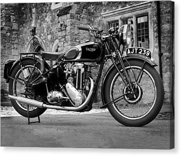 Triumph De Luxe 1939 Canvas Print by Mark Rogan