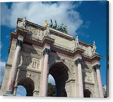triumphal arch of Louvre garden Canvas Print by Marcio Faustino