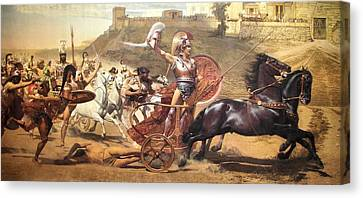 Triumphant Achilles Canvas Print by Franz von Matsch