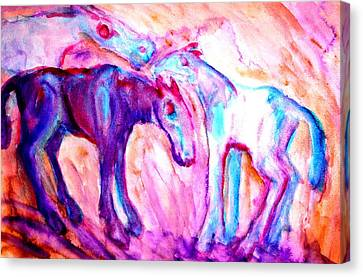 We Are A Family And We Will Not Split Up  Canvas Print by Hilde Widerberg