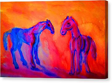 If We Could Start At New I Wouldn't Hesitate I Gladly Take You Back  Canvas Print by Hilde Widerberg