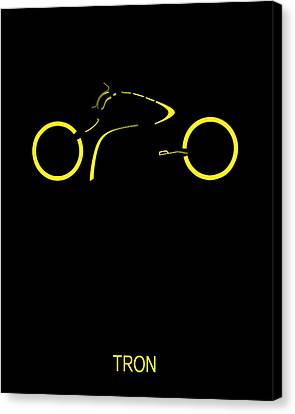 Tron Minimalist Movie Poster Canvas Print by Finlay McNevin