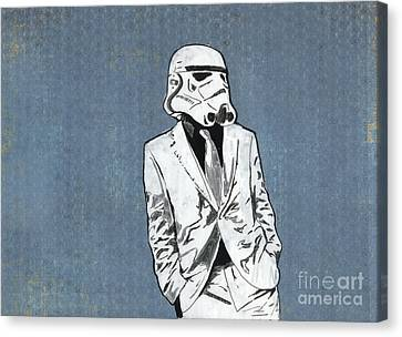 Star Canvas Print featuring the mixed media Trooper 1 by Jason Tricktop Matthews