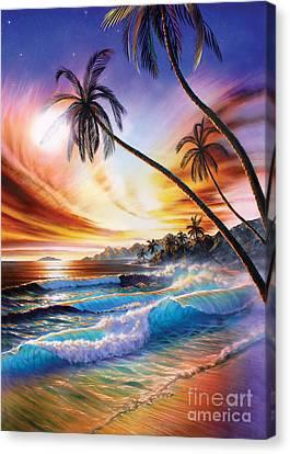 Tropical Beach Canvas Print by Adrian Chesterman