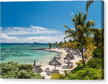Tropical Beach II. Mauritius Canvas Print by Jenny Rainbow