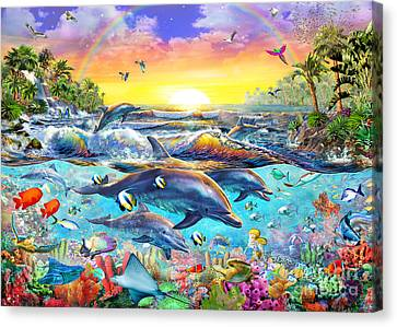 Tropical Cove Canvas Print by Adrian Chesterman
