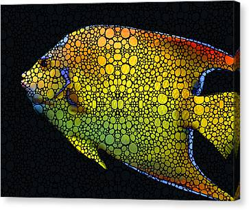 Tropical Fish 12 - Abstract Art By Sharon Cummings Canvas Print by Sharon Cummings