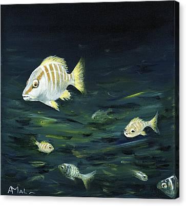 Tropical Fish Canvas Print by Anastasiya Malakhova