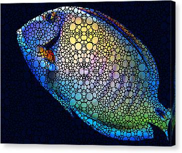 Tropical Fish Art 6 - Painting By Sharon Cummings Canvas Print by Sharon Cummings