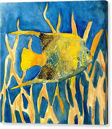 Tropical Fish Art Print Canvas Print by Derek Mccrea