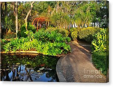 Tropical Gardens Canvas Print by Kaye Menner