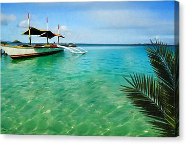 Tropical Getaway Canvas Print by Lourry Legarde