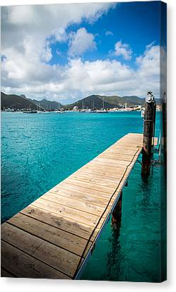 Tropical Harbor Canvas Print by Kristopher Schoenleber