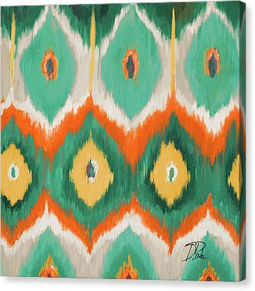 Tropical Ikat II Canvas Print by Patricia Pinto
