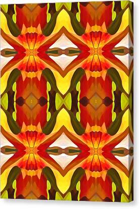Tropical Leaf Pattern 10 Canvas Print by Amy Vangsgard