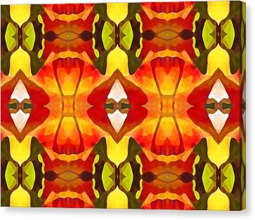 Tropical Leaf Pattern  12 Canvas Print by Amy Vangsgard