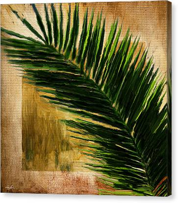 Tropical Palm Canvas Print by Lourry Legarde