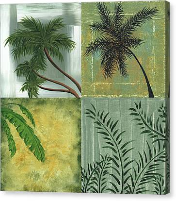 Tropical Splash Square By Madart Canvas Print by Megan Duncanson