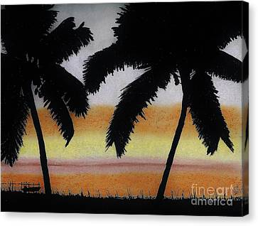Tropical - Sunset Canvas Print by D Hackett