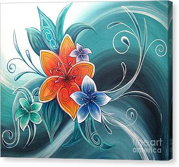 Tropical Tahi Canvas Print by Reina Cottier