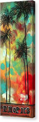 Tropics By Madart Canvas Print by Megan Duncanson