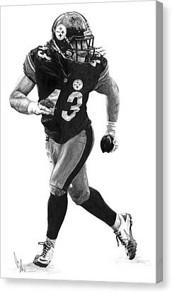 Troy Polamalu Canvas Print by Bobby Shaw