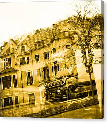 Trucks On The Way Canvas Print by Toppart Sweden