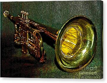 Trumpet - 20130111 Canvas Print by Wingsdomain Art and Photography