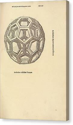 Truncated Icosahedron Canvas Print by Library Of Congress