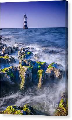 Trwyn Du Lighthouse Canvas Print by Darren Wilkes