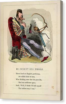 Trying To Kill Himself Canvas Print by British Library