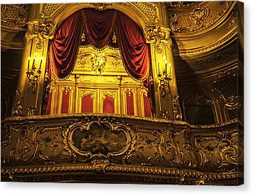 Tsar's Box 2 - Mariinsky Theater - St. Petersburg - Russia Canvas Print by Madeline Ellis