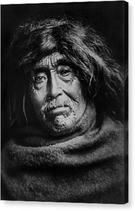Tsawatenok Indian Man Circa 1914 Canvas Print by Aged Pixel