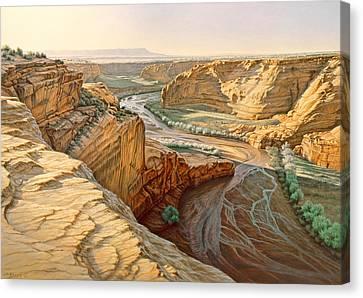 Tsegi Overlook - Canyon De Chelly Canvas Print by Paul Krapf