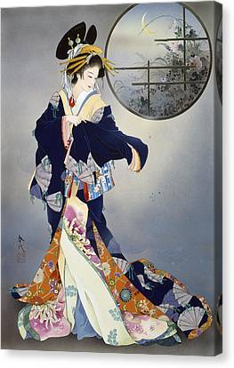 Tsukiakari Canvas Print by Haruyo Morita